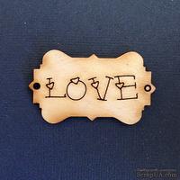 Деревянная фигурка WOOD-061 - Love, 1 штука