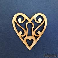 Деревянная фигурка WOOD-065 - Ажурное сердце, 1 штука