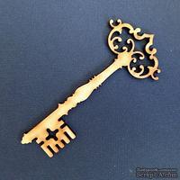 Деревянная фигурка WOOD-066 - Старинный ключ, 1 штука
