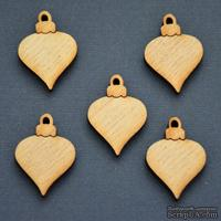 Деревянная фигурка WOOD-070 - Елочная игрушка, 1 штука
