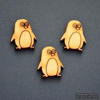 Деревянная фигурка WOOD-081 - Пингвин, 1 штука