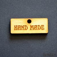 Деревянная фигурка WOOD-086 - Hand Made 2, 1 штука - ScrapUA.com