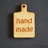 Деревянная фигурка WOOD-095 - Hand Made на досточке, 1 штука - ScrapUA.com