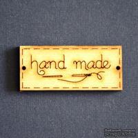 Деревянная фигурка WOOD-096 - Hand Made с иголкой, 1 штука