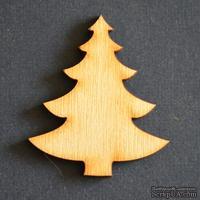 Деревянная фигурка WOOD-101 - Елка большая, 1 штука
