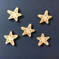 Деревянная фигурка WOOD-109 - Морская звезда, 1 штука