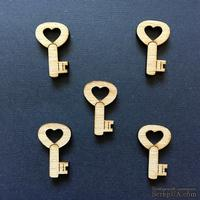 Деревянная фигурка WOOD-115 - Ключ 1, 1 штука