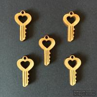 Деревянная фигурка WOOD-116 - Ключ 2, 1 штука