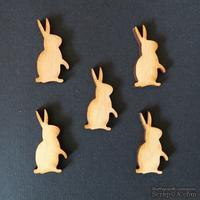 Деревянная фигурка WOOD-120 - Пасхальный кролик 2, 1 штука