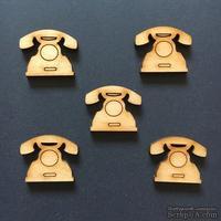 Деревянная фигурка WOOD-121 - Телефон, 1 штука