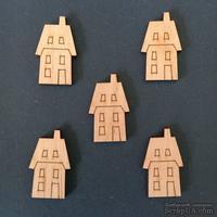 Деревянная фигурка WOOD-129 - Домик 2, 1 штука