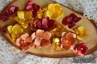 Набор бумажных цветов от WOODchic - Металлизированные 058