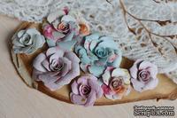 Набор бумажных цветов от WOODchic - Нежное прикосновение 082