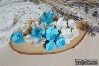 Набор цветов из тутовой бумаги от WOODchic - Гортензии 088