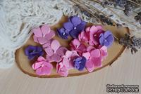 Набор цветов из тутовой бумаги от WOODchic - Гортензии 089