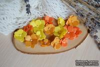 Набор цветов из тутовой бумаги от WOODchic - Гортензии 090