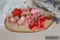 Набор цветов из тутовой бумаги от WOODchic - Гортензии 091