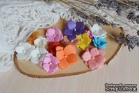 Набор цветов из тутовой бумаги от WOODchic - Гортензии 092