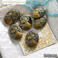 Металлическое украшение Bronze Woman, 1 штука