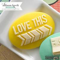Украшение Webster's Pages - Love This, цвет желтый, 1 штука