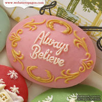 Украшение Webster's Pages - Always Believe, цвет розовый, 1 штука