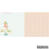 Лист двусторонней скрапбумаги Webster's Pages - Postcards from Paris -Let Them Eat Cake? 30х30 см