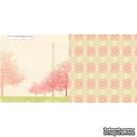 Лист двусторонней скрапбумаги Webster's Pages - Postcards from Paris -Romantique? 30х30 см