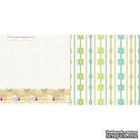 Лист двусторонней скрапбумаги Webster's Pages - Postcards from Paris -Avenue de Champs? 30х30 см