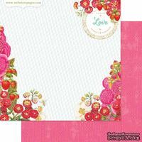 Лист скрапбумаги Webster's Pages - Strawberry Patch, двусторонняя, 30х30 см