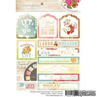 Набор наклеек Webster's Pages - Strawberry Fields - Tag & Prompt Sticker