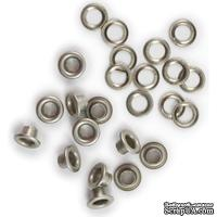 Люверсы и кольца от  WeRM - We R Eyelets & Washers Standard -3/16,  цвет никель, 35 шт.