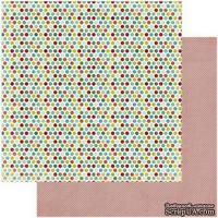 Лист скрапбумаги My Mind's Eye -  Polka Dots, 30х30 см, двусторонняя