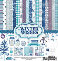 "Набор бумаги от Echo Park ""Winter Wishes Collection Kit"", 30x30, 12 листов"