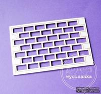 Чипборд от  Wycinanka  - Кирпичная кладка, 7,7x11 см