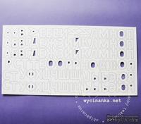 Чипборд от  Wycinanka  - Алфавит большой, 2.5 см, 90 букв - ScrapUA.com