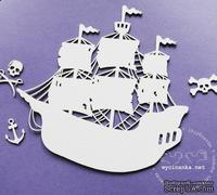 Чипборд от Wycinanka - Кораблик  с мачтами - ScrapUA.com