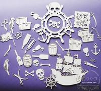 Чипборд от Wycinanka - Пиратский набор большой - AJEMNICZA WYSPA SKARBOW -zestaw
