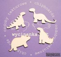 "Чипборд от Wycinanka ""mae dinozaury"" - маленькие динозавры"