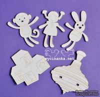 Чипборд от Wycianka - Дорогие малыши - игрушки, 5 дет.