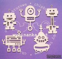 Чипборд от Wycianka - Роботы, 5 дет.