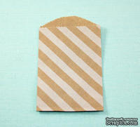 Конвертик из крафт бумаги White Diagonal Stripe Little Bitty Bags, 6,9х10см, 1 шт.