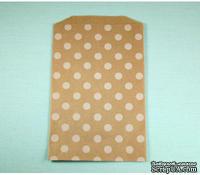 Конвертик White Polka Dot Middy Bitty Bags, размер 12,07х19,05 см, 1 шт.