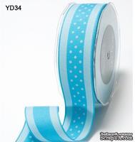 Лента от May Arts - TURQUOISE, 3,8 см,  цвет голубой, длина 90 см