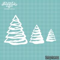 Чипборд от Вензелик - Набор елок, размер: 32,48 и 75 мм