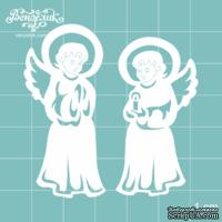 Чипборд от Вензелик - Двое ангелов, размер: 50 и 54 мм