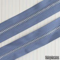 Тесьма с молнией Zipper Trim - Earl Grey, цвет серый, ширина 13 мм, длина 90 см