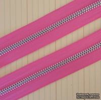Тесьма с молнией Zipper Trim - Bubblegum Pink, цвет розовый, ширина 13 мм, длина 90 см