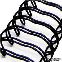 Спираль для биндера Zutter - Bind-It-All - цвет черный, 12 мм, 6 штук - ScrapUA.com