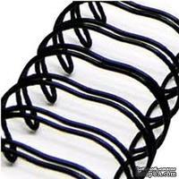 Спираль для биндера Zutter - Bind-It-All - цвет черный, 19 мм, 6 штук