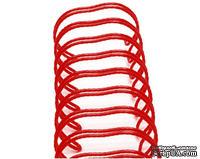 Спираль для биндера Zutter - Bind-It-All - цвет красный, 25 мм, 6 штук - ScrapUA.com